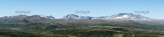 Panorama View to Snøhetta Peak in Norway