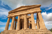 Temple of Concordia an ancient Greek Temple in the Valley of the Temples, Agrigento, Sicily, Italy