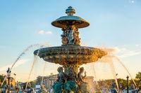 Fontain on Place de la Concorde in Paris