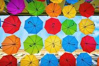 Umbrella street in Timisoara