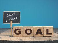 Set your GOAL on wooden blocks
