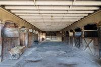 Inside an historic Victorian Horse Barn at Wilder Ranch