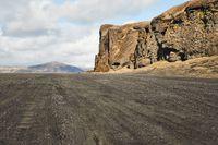 Icelandic landscape with cliffs