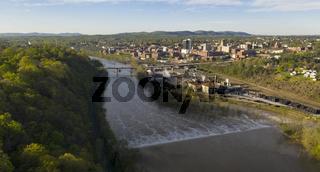The Rising Sun Begins To Light Up Downtown Lynchburg Virginia
