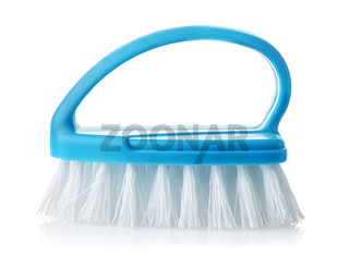 Side view of blue cleaning brush