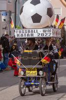 Schongau, Germany, Bavaria 03.03.2019: Carnival procession in the Bavarian Schongau