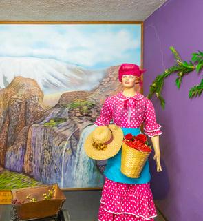 Bogota Jaime Duque park traditional Colombian woman mountain dress