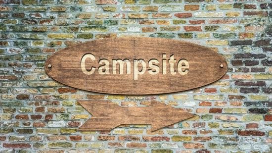 Street Sign to Campsite