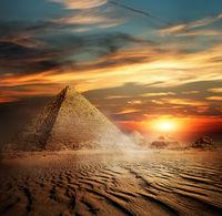Pyramids in the desert