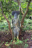 Life-size sculpture at the grave site of Henri Mouhout, Luang Prabang, Laos