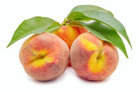 Ripe and beautiful peaches