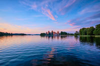 Trakai Island Castle in lake Galve, Lithuania