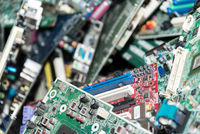 Motherboard collection of different types - closeup information technology