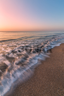 Breaking Wave on the Beach at Sunrise, Florida, USA