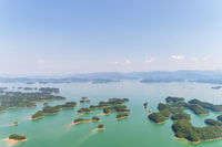 aerial view of hangzhou thousand island lake
