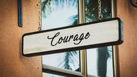 Street Sign to Courage