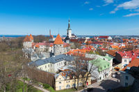 Tallin old town from the top