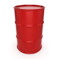 3D rendering red barrel