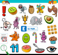 E is for educational task for children