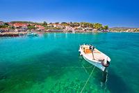 Lumbarda on island Korcula turquoise waterfront view
