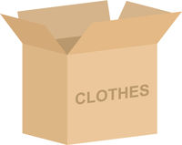 Clothes Charity Box Vector
