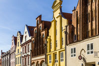 old gabled houses. Stralsund, Germany