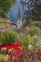 Church and spa gardens in Bayrischzell