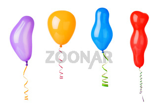 Set of balloons and streamer