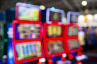 Blurred Slot machines in a casino