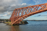 The Forth Rail Bridge, Scotland, connecting South Queensferry (Edinburgh) with North Queensferry (Fi