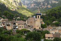 Parish Church of Sant Bartomeu in Valldemossa, Mallorca, Balearic Islands, Spain