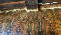 Frieze of 10 of the 24 Elders of the Apocalypse, rock church Petros and Paulos Melehayzengi,Ethiopia