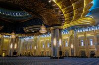 view Kuwait Grand Mosque interior, Kuwait-city, Kuwait