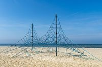 Climbing frame on the Baltic Sea beach