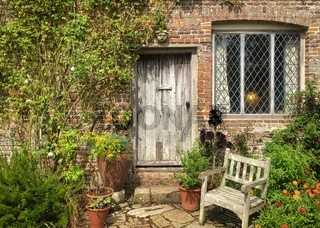 Beautiful flowers, trees and plants and garden landscaping in Sissinghurst Caslte Gardens