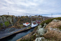 Rovaer in Haugesund, Norway - januray 11, 2018: The Rovaer archipelago in Haugesund, in the norwegian west coast.