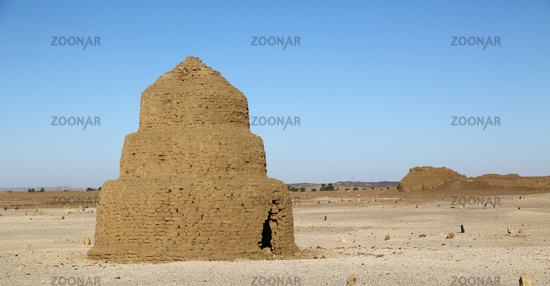 muslim burial near  the antique city