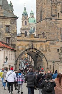Blick zur Kleinseite in Prag
