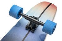 tail of cruising longboard
