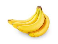 Bunch of ripe bananas isolated