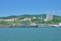 Harbor of Sassnitz on Ruegen Island,baltic Sea,Mecklenburg western Pomerania,Germany