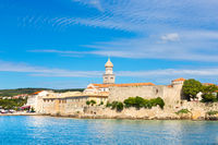 Panoramic view of Krk town, Mediterranean, Croatia, Europe