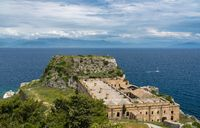 Old Fortress of Corfu on promontory by old town