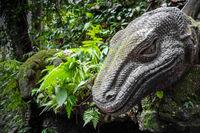 Lizard statue in the Monkey Forest, Ubud, Bali, Indonesia