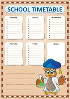 Weekly school timetable template 8