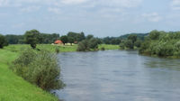 Rinteln - The Weser river near the old town, Germany
