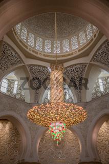 Swarovski Leuchter,  Scheich Zayed Moschee, Abu Dhabi, Emirate