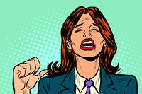 unhappy woman blames herself