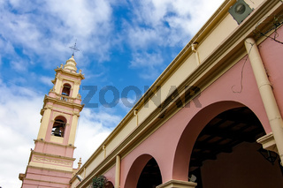 View on the Cathedral Basilica of Salta, Argentina