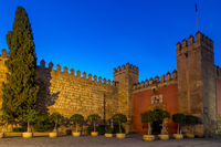Entrance gate to the Royal Alcazar, Seville, Andalusia, Spain, Europe